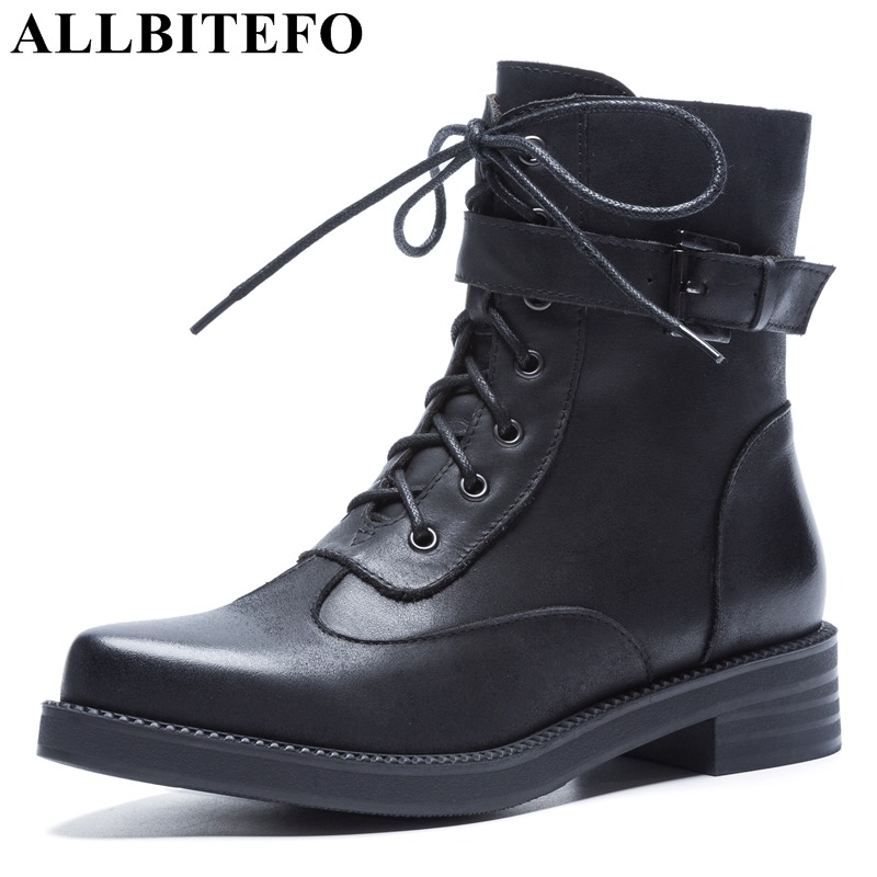 allbitefo brand genuine leather super high heel ankle women boots fashion sexy ladies girls martin boots motocycle boots shoes ALLBITEFO hot sale genuine leather high heels ankle boots women fashion brand thick heel women boots martin boots girls shoes