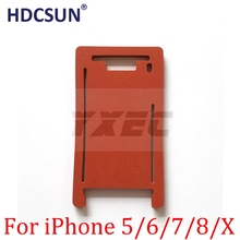 HDCSUN lamination mould Silicone mat for iphone x 5 5s 6 6s 7 8 plus X  front glass with frame laminating machine mold mats pad