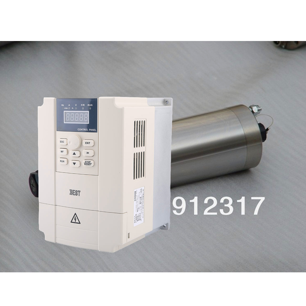 GDZ100-2.2 ER20 D100mm WATER-COOLED MOTOR SPINDLE  AC220V & 2.2kw 220v BEST VFD Inverter