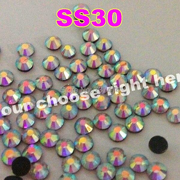 SS30 288pcs / taška Clear AB Crystal DMC HotFix FlatBack kamínky štrasové, DIY železo na oděvní sklo řezané krystaly Hot Fix kameny