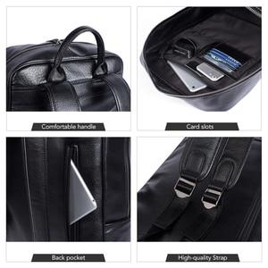 Image 5 - WESTAL 100% Genuine Leather Mens Backpack men Male Business bag schoolbag man fashion mens backpacks for male Leather 8110