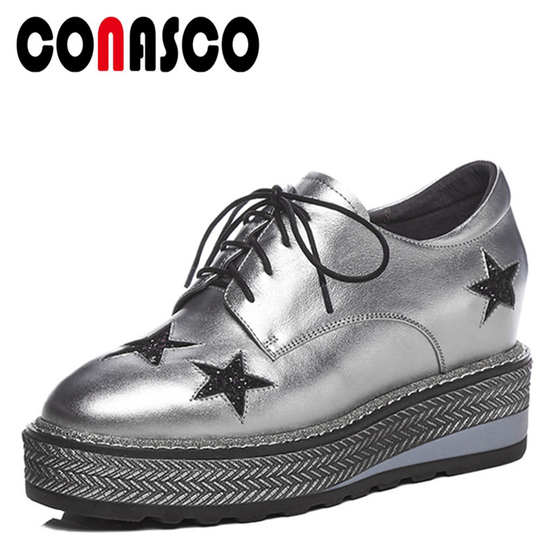 CONASCO1Fashion Women Basic Pumps Genuine Leather Spring Autumn High Heels Shoes Woman Round Toe Casual Cross-tied Quality ShoesCONASCO1Fashion Women Basic Pumps Genuine Leather Spring Autumn High Heels Shoes Woman Round Toe Casual Cross-tied Quality Shoes