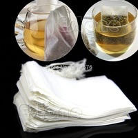 A96 Free Shipping 50Pcs New Empty Teabags String Heat Seal Filter Paper Herb Loose Tea Bag