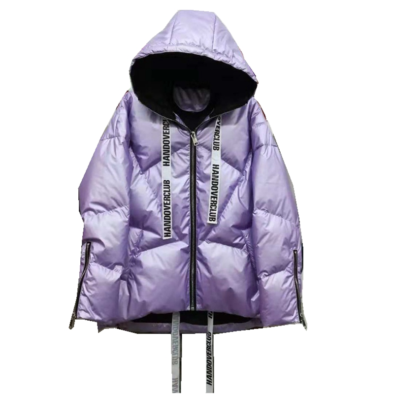 Autumn Winter Women Parkas Down Coats Jacket with Hoody 80 Duck Down Lady Short Outerwear LF5184