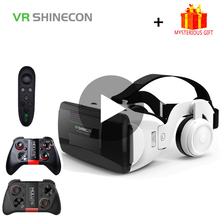 Shinecon G06EB Helmet 3D VR Glasses Virtual Reality Headset Lens For iPhone Android Smartphone Smart Phone Goggles Gaming 3 D цена