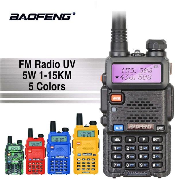 Baofeng UV-5R Talkie Walkie VHF Portable UV5R Deux Voies CB Station de Radio Baofeng UV 5R Jambon Radio Comunicador HF Émetteur-Récepteur 10 km