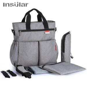 Image 1 - 섬insu한 다채로운 아기 기저귀 가방 기저귀 유모차 가방 방수 엄마 변경 가방 다기능 엄마 토트 백
