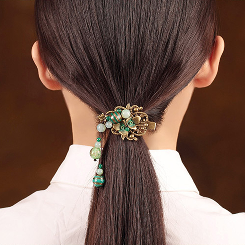 Hair Clip For Women Hair Claws natural stone Hair Jewelry metal Vintage handmade Fashion Jewelry Girls Hair Accessories