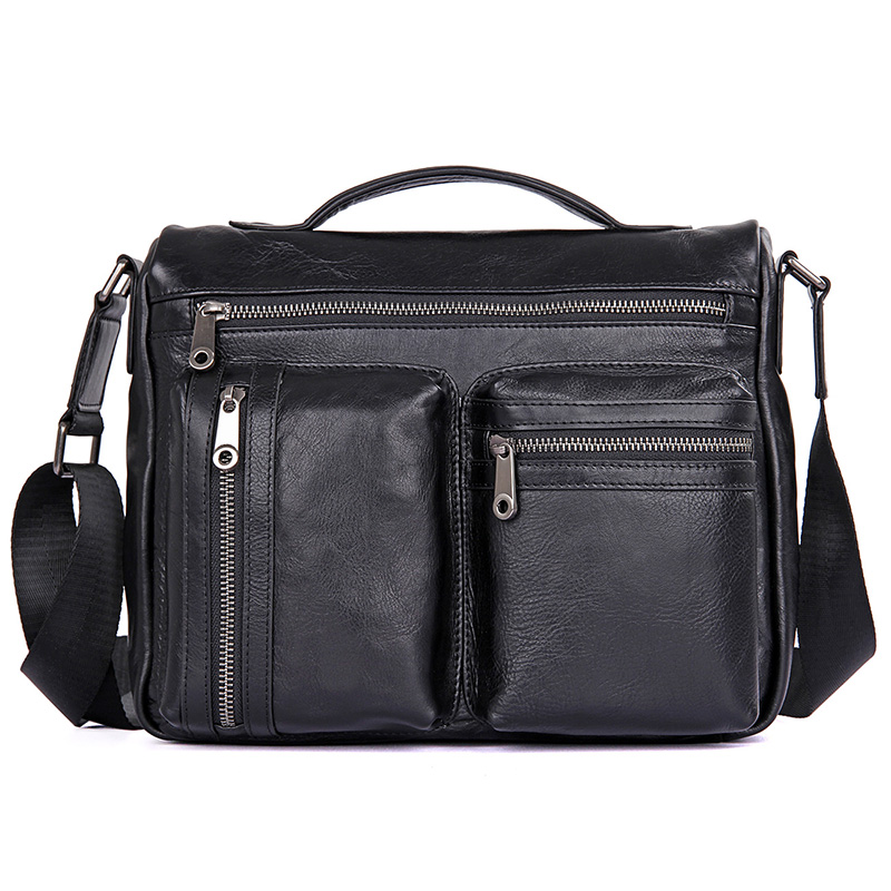 JMD Fashion Men Bag Crossbody Bags Casual Totes Leather Handbags Messenger Laptop Bag Flap Genuine Leather Shoulder Bags Men