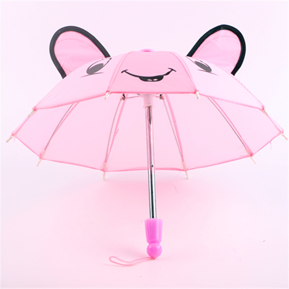Doll Accessories - 6color Outdoor Umbrella Fits American  Doll,My Life Doll,Our Generation And Other 18 Inch Dolls XMAS GIFT