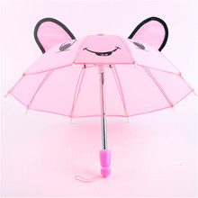 Doll Accessories 6color Outdoor Umbrella Fits American Girl Doll My Life Doll Our Generation and other