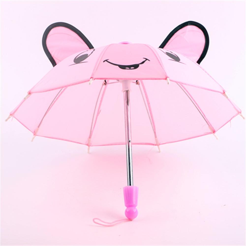 ᑐDoll accesorios-6 color paraguas al aire libre encaja American ...