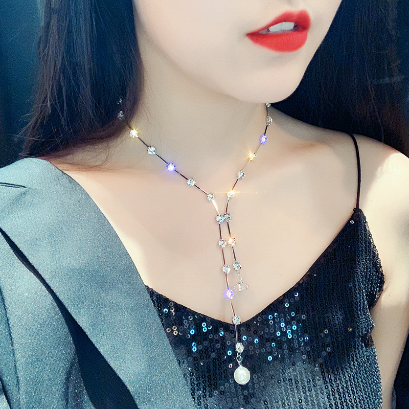 223492ab8bc0 FYUAN de moda gargantilla de cristal collares para mujeres nuevos ...