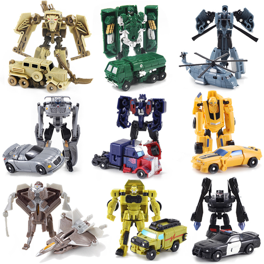 1pcs Kids Toy Boys Transformation Robot Car Assembling Building Blocks Aircraft Robot Manual Small Deformation Pocket Baby Toys