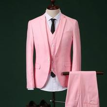 2018 hombres Slim rosa traje de novio de boda Boda de hombre de trajes con pantalones  cena fiesta trajes para hombres (chaqueta . ad5dcb8c877