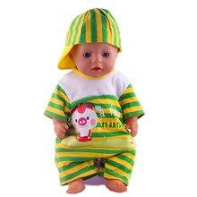 hot deal buy doll accessories,hat+jumpsuits wear fit 43cm baby born zapf, children best birthday gift n285