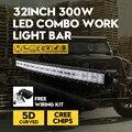 5D ВОДИТЬ Комбо Изогнутые Светлая полоса 300 Вт 32 Inch CREE Чипов Внешний огни Offroad Дальнего света пикап Для VW Jeep Hummer Автомобиль Лампы