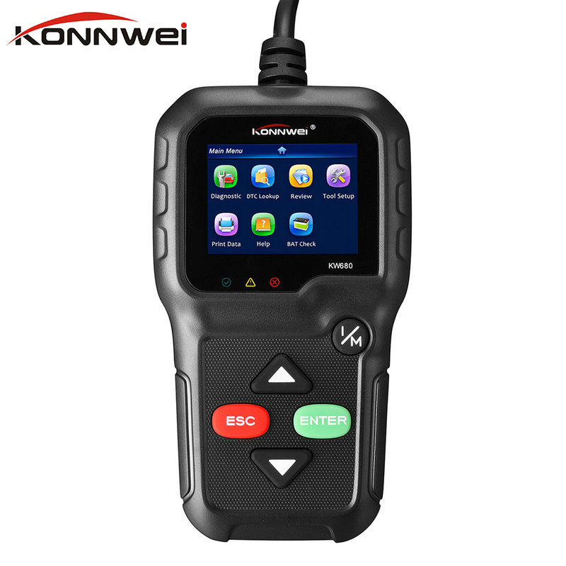 Newest OBD 2 ODB 2 Autoscanner <font><b>KONNWEI</b></font> <font><b>KW680</b></font> With Multi-languages Support All OBD2 Functions Auto Diagnostic <font><b>Scanner</b></font> for Car image