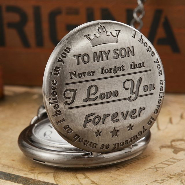 6 Design Quartz Pocket Chain Watch To My Son Necklace Watches Clock For Child Ki