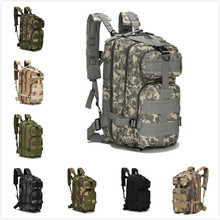 Outdoor Camouflage Sports Bag Waterproof High Density Tear Resistant Wearable Mountaineering Riding Tactical Backpack  Rucksack