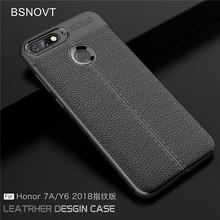 For Huawei Honor 7A Pro Prime Case Soft Silicone Leather Anti-knock Case For Huawei Y6 Prime 2018 Cover For Huawei Enjoy 8E Case все цены
