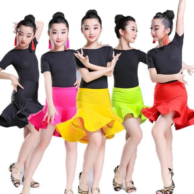 001b1f28e 2018 Girls short Sleeves Standard Latin Dance Dress Children ...
