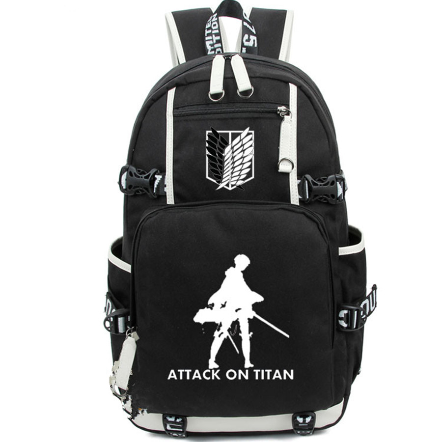 Anime Attack On Titan Backpack Student School Printing Bag Casual Bag Cosplay Gifts anime tokyo ghoul cosplay anime shoulder bag male and female middle school student travel leisure backpack