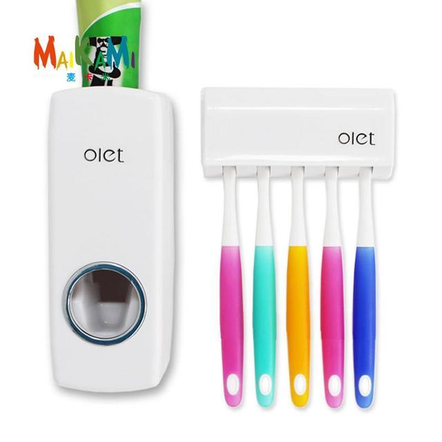 1 set Creativo Dispenser Automatico di Dentifricio con Spazzolino Da Denti Titol