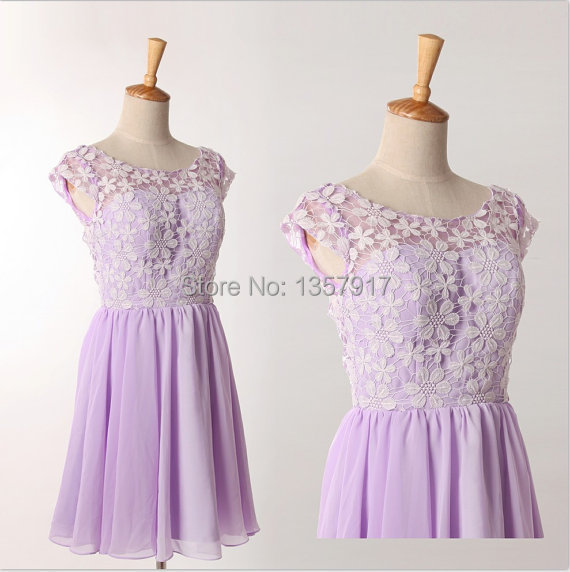 Popular Short Light Purple Bridesmaid Dresses-Buy Cheap Short ...