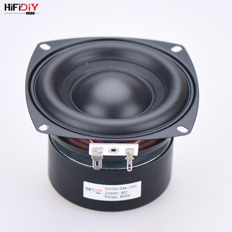 HI FI DIY аудио 4 дюйма, 80 Вт, низкочастотный динамик, высокая мощность, длинный ход, бас, домашний кинотеатр, 2,1 блок сабвуфера, громкий динамик s, SB4 105S|Аксессуары для аудиосистем|   | АлиЭкспресс