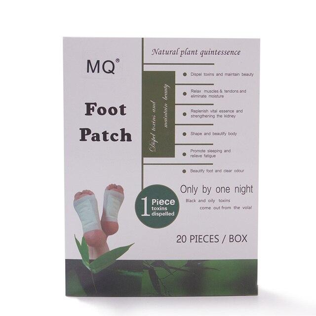 4 pcs ginger detox foot patch bamboo vinegar pads improve sleep.