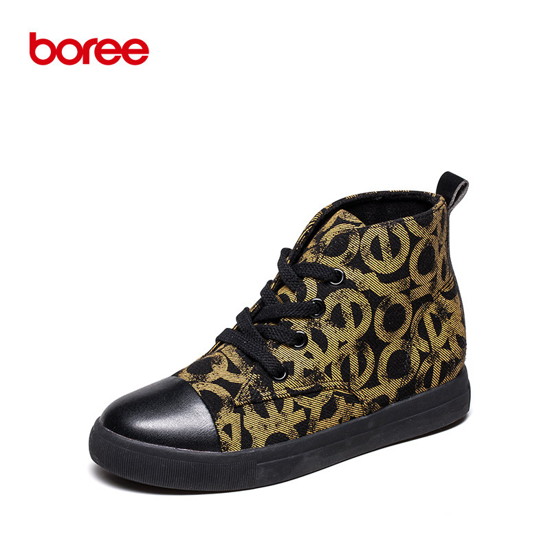 Boree Winter Women s Casual Shoes Fashion Sneakers Walking Height Increase High-Top Canvas Short Plush Zapatillas Mujer 58067