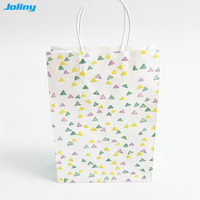 30pcs Joliny the small fresh Kraft paper Gift bag durable pattern Present Gift Bags with Handle Christmas wedding party festival