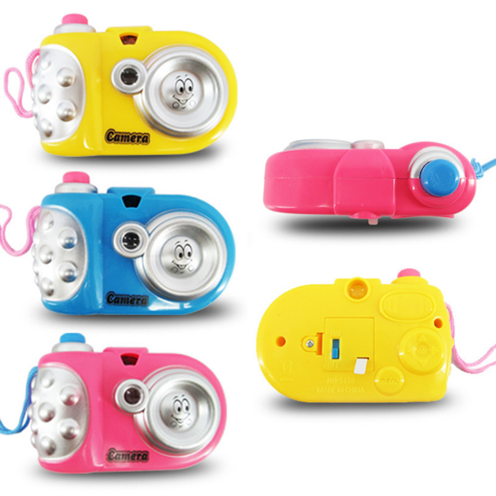 New Children Cartoon Lighting Projection Camera Toy Children Educational Toys Cartoon Projection Toys Baby Gift Random Delivery