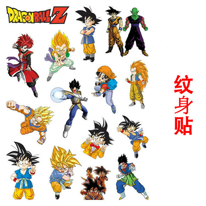 5Pcs/Lot Anime Dragon Ball Stickers Super Saiyan Goku Stickers 20*15cm For Car Laptop Skateboard Pad Bicycle Phone Decal ST04 skipping rope