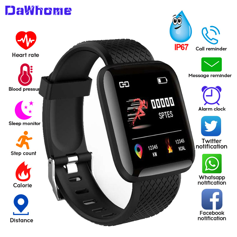 Women Men Sport Smart Watch Blood Pressure Measurement Waterproof Fitness Tracker Watch Heart Rate Monitor Pedometer Smart Band