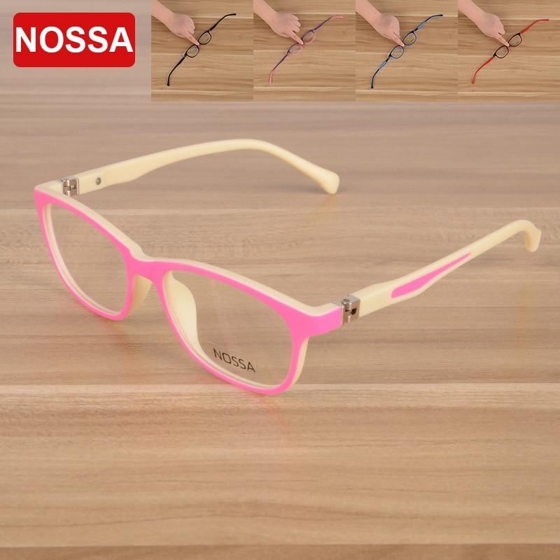 NOSSA Značka TR90 Dětské brýle Čirá čočka Nová módní dětská brýle Rám Vysoce kvalitní brýle Boy & Girls Brýle