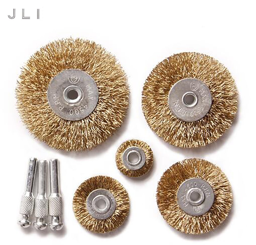 10x rotary mini tools steel wire wheel brushes cup rust cleaning - Jli 8 Pcs Petiole Wire Rust Grinding Polishing Accessories Wire Wheel Brushes For Rotary Tool Electric
