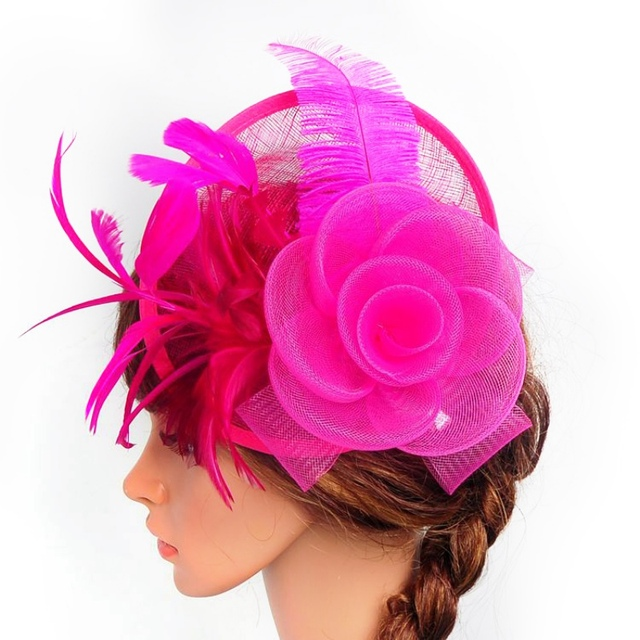 0323bd57af3 Elegant Lady Large Headband Aliceband Hat Fascinator Weddings Ladies Day  Race Royal Ascot