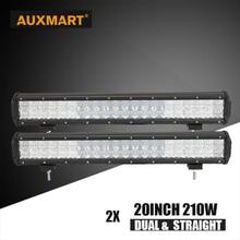 Auxmart 5D CREE chips 20″ 210w offroad LED Work light bar straight combo beam bar light car camper trailer 4×4 SUV ATV 24V 12V