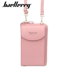 Women's wallet solid color small diagonal bag multi-function