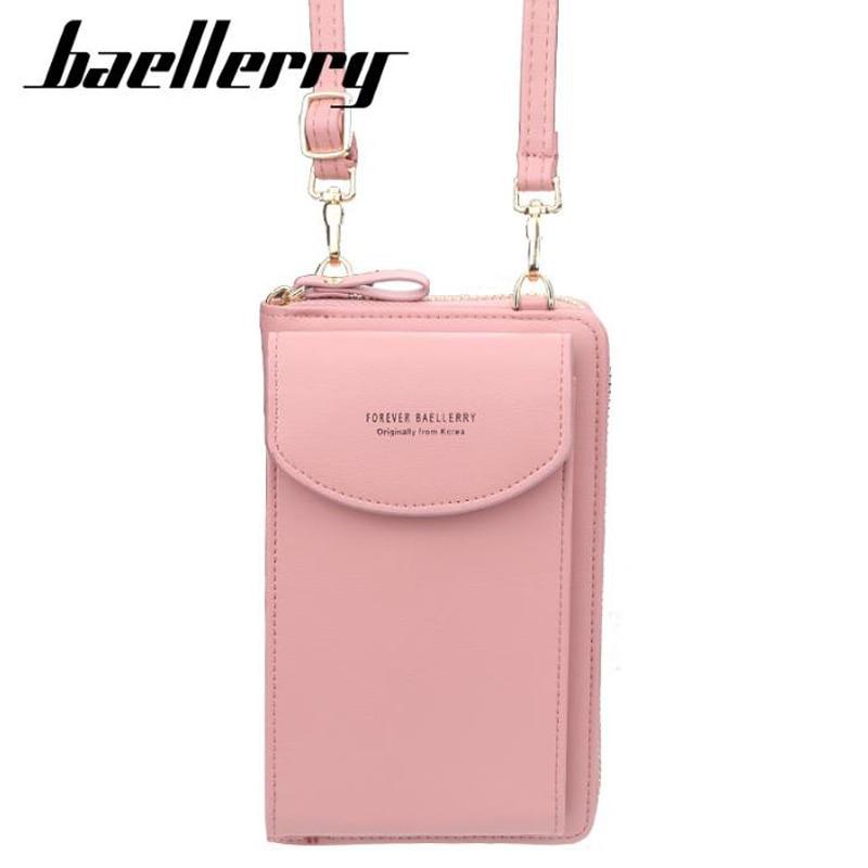 Women's Wallet Solid Color Small Diagonal Bag Multi-function Mobile Phone Long Paragraph Clutch Bag Purse Female