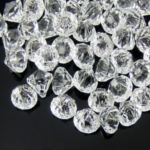 Image 5 - 50pcs Clear acrylic diamond gems faceted beads table vase filler pirate acrylic diamond crystal in Party DIY Decorations 12.0mm