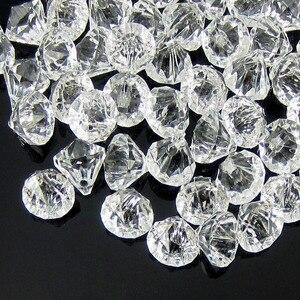 Image 5 - 50pcs perles en diamants en acrylique transparent, perles à facettes, remplissage de vase de table, pirate, cristaux, à réaliser soi même, décorations de fête, 12.0mm