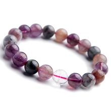 Top Natural Colorful Auralite 23 Cacoxenite Red Crystal Round Beads Bracelet 10mm Women Men Best Stone Jewelry AAAAA