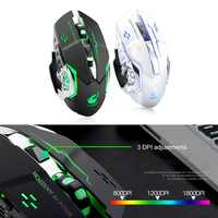 Wireless Fashion Colorful Backlight Light Gaming Mouse For Laptop PC Ergonomics Design DPI Adjustable Computer Peripherals