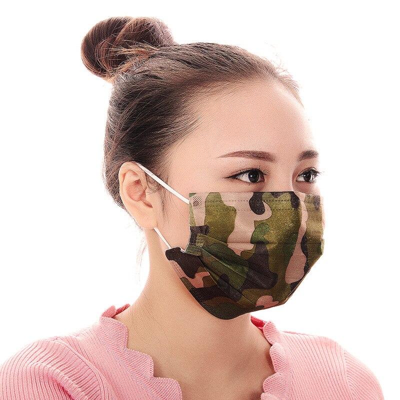 Masken Frank Convinient Nützlich Staub-proof Atmungsaktive Einweg Drei Etagen Nicht-gesponnene Verschiedene Floral Print Masken Gesicht Haube 20 Stücke Damen-accessoires