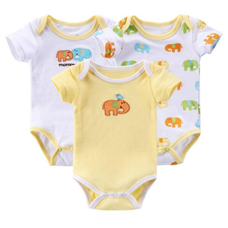 3 Sztuka / partia Baby Rompers Kid Kombinezon Baby Boy Romper - Odzież dla niemowląt - Zdjęcie 4