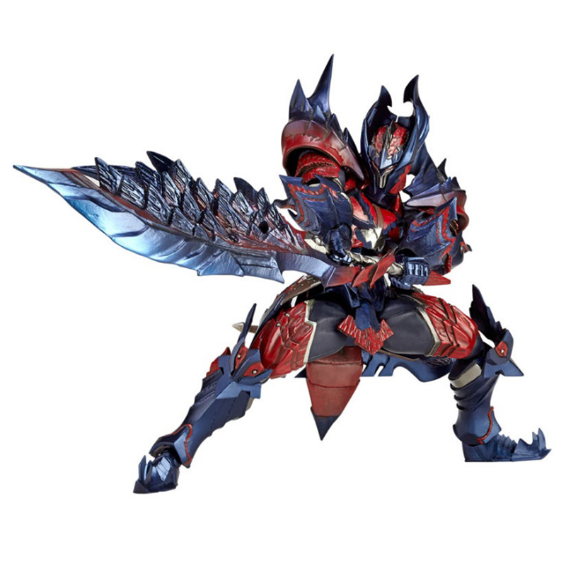 Vulcanlog 019 Action Figure From Monster Hunter XX Dinovaldo set Model Collectible Monster Figures Action Toy for Children Gift japan action figure from monster hunter xx game zinogre women hunter set model collectible anime monster figures action toy