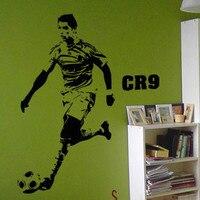 Free Shipping Wholesale And Retail Wall Stickers Wall Decor Home Decor Football Star Cristiano Ronaldo